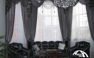 Шторы в гостинных Азбука окна