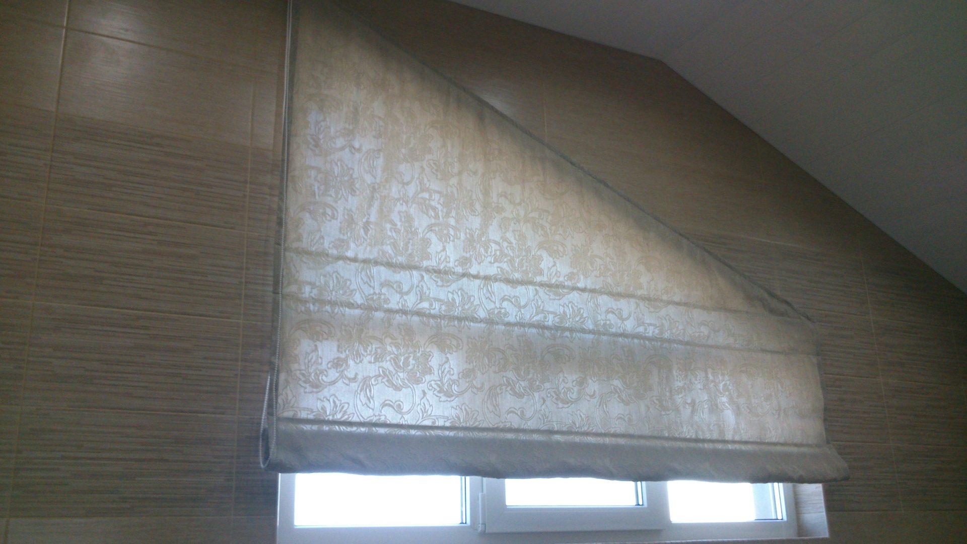 шторы треугольное окно