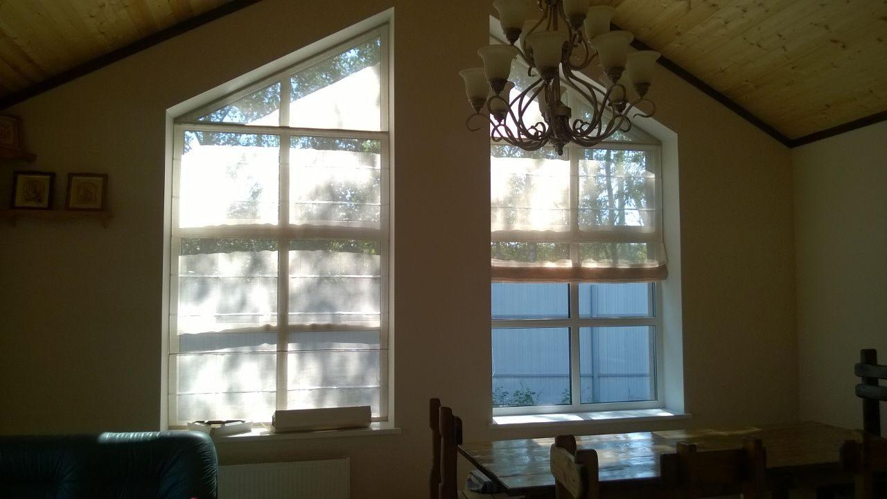 шторы окно треугольное